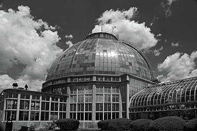 Photograph - Belle Isle Conservatory 4 Bw by Mary Bedy