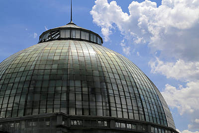 Photograph - Belle Isle Conservatory Dome by Mary Bedy