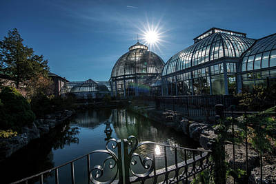 Photograph - Belle Isle Conservatory by Steven Dunn