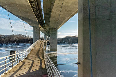 Photograph - Belle Isle Pedestrian Bridge by Doug Ash