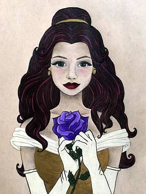 Beauty And The Beast Drawing - Belle by Kristen Alberti