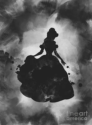 Mixed Media - Belle Noir by Rebecca Jenkins