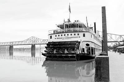 Belle Of Louisville Docked Art Print