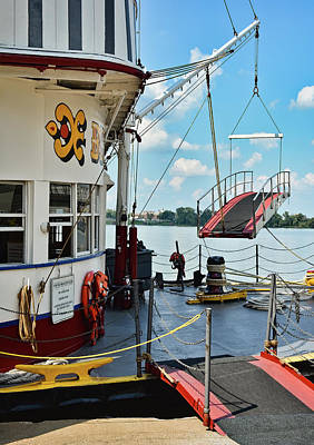Photograph - Belle Of Louisville - Foredeck - Pierside by Greg Jackson