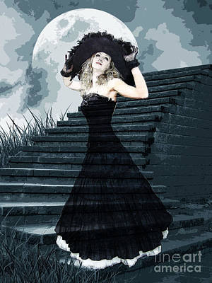 Formal Mixed Media - Belle Of The Full Moon Ball by Tammera Malicki-Wong