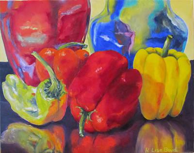 Belle Peppers Art Print by Lisa Boyd