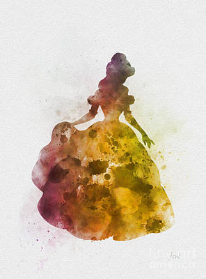 Mixed Media - Belle by Rebecca Jenkins
