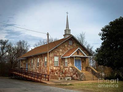 Bellefonte Wall Art - Photograph - Bellefonte United Methodist Church Arkansas by Teresa A and Preston S Cole Photography