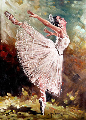 Figurativ Painting - bellerina - IV by Dusan Vukovic