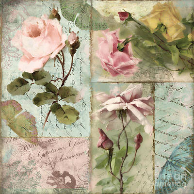 Belles Fleurs I Print by Mindy Sommers