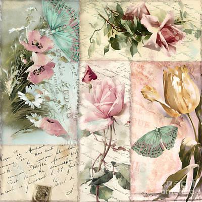Belles Fleurs II Art Print by Mindy Sommers