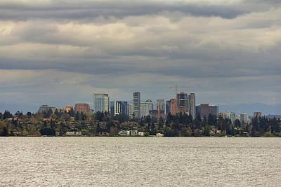 Wall Art - Photograph - Bellevue Skyline Along Lake Washington by David Gn