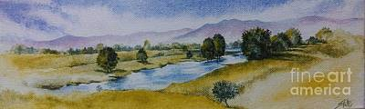 Painting - Bellinger Valley In Spring by Sandra Phryce-Jones