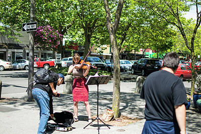Photograph - Bellingham Pride Busker by Tom Cochran