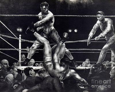 Bellows: Dempsey, 1924 Art Print by Granger