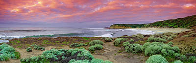 Bells Beach Pastels Art Print by Sean Davey