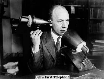 Bells First Telephone. Publicity Photo Art Print by Everett