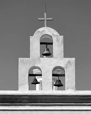 Photograph - Bells - San Xavier Del Bac - Arizona - Bw by Nikolyn McDonald