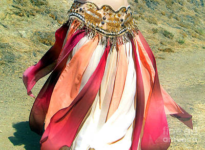 Belly Dance Fashion - Ameynra Skirt - Desert Rose Art Print by Sofia Metal Queen