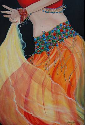 Belly Beads Painting - Belly Dancer by Audrey Sullivan