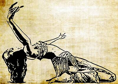 Belly Dancer Digital Art - Belly Dancer by Katrina Britt