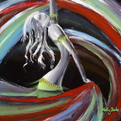Twirl Painting - Belly Dancer by Kelly Jade King