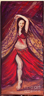 Shawl Mixed Media - Belly Dancer by Reza Sepahdari