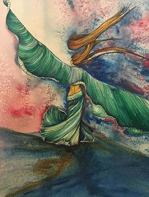 Painting -  Belly Dancer With Wings  by Mastiff Studios