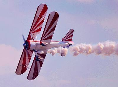 Belly Of A Biplane Art Print