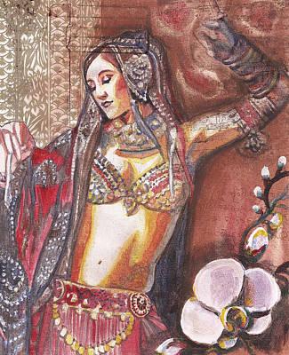 Indian Tribal Art Mixed Media - Bellydancer by Stephanie Bolton