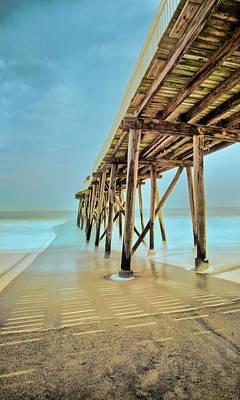 Photograph - Belmar Fishing Pier From Below by Gary Slawsky