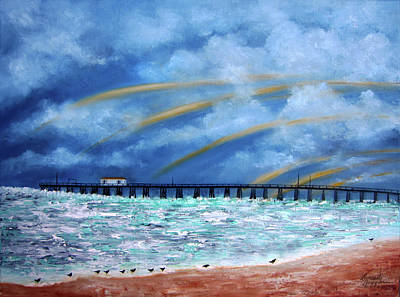 Painting - Belmar's Fishing Pier by Leonardo Ruggieri