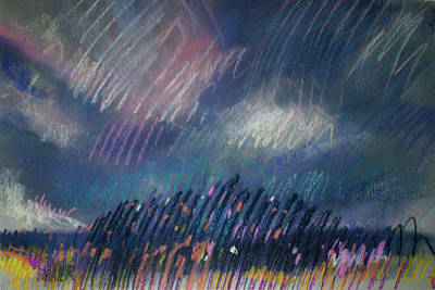 Abstract Landscape Drawing - Belmont Lights by Donald Maier