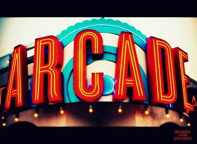 Photograph - Belmont Park Arcade - San Diego by Glenn McCarthy Art and Photography