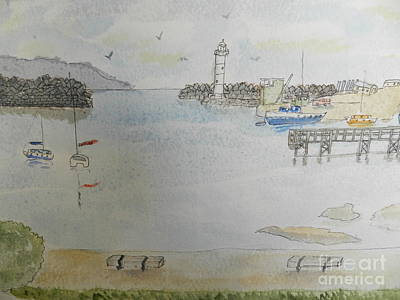 Painting - Belmore Basin In Wollongong by Pamela Meredith