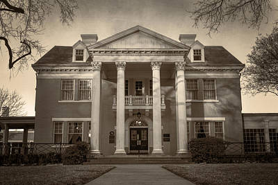 Mansion Photograph - Belo Mansion Dallas Sepia by Joan Carroll