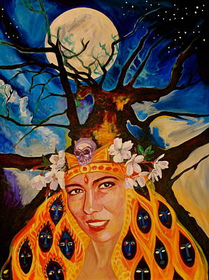 Painting - Belorussian Oracle In Centro Park Nyc by Yelena Tylkina