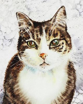 Painting - Beloved Cat by Irina Sztukowski