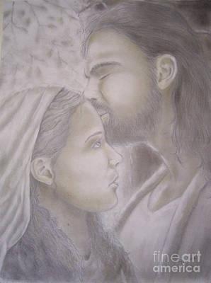 Beloved Disciple Art Print by Oscar Arauz