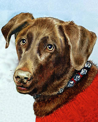 Painting - Beloved Dog Portrait  by Irina Sztukowski