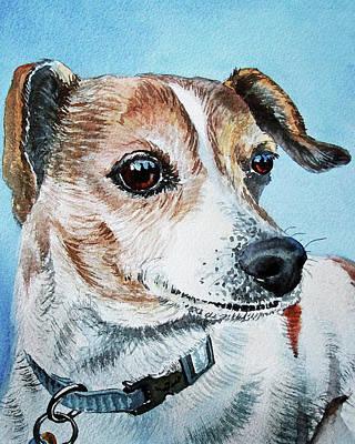 Painting - Beloved Puppy Dog by Irina Sztukowski
