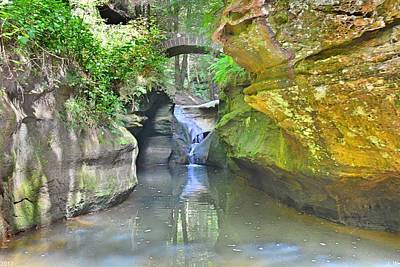 Photograph - Below Devil's Bathtub At Hocking Hills Ohio by Lisa Wooten