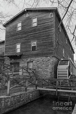 Photograph - Below Edwards Mill Grayscale by Jennifer White