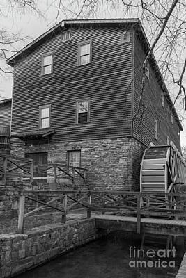 Photograph - Below Edwards Mill Grayscale by Jennifer White