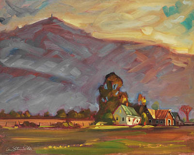 Barn Poster Painting - Below Greylock by Len Stomski