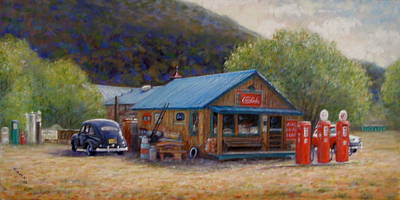 Art Print featuring the painting Below Taos 2 by Donelli  DiMaria