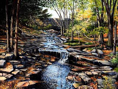Painting - Below The Dam, Hallowell, Maine by Eileen Patten Oliver