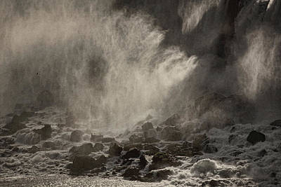 Photograph - Below The Falls Bw by Theo O'Connor