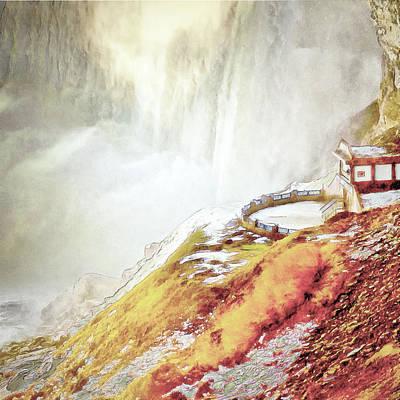 Digital Art - Below The Falls by Leslie Montgomery