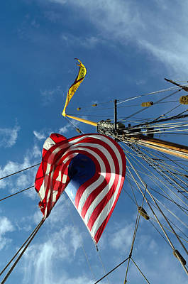 Photograph - Below The Mast Pride Of Baltimore II by Richard Ortolano